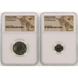Lot of Constantius II A.D 337-361 Ancient Roman Empire Coins NGC  VF