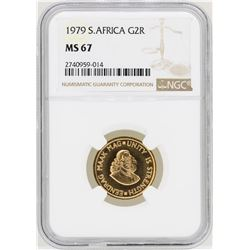 1979 South Africa 2 Krugerrand Gold Coin NGC MS67