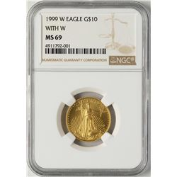 1999-W $10 American Gold Eagle Coin NGC MS69