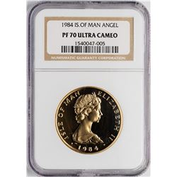 1984 Isle of Man Proof 1 oz. Gold Coin NGC PF70 Ultra Cameo