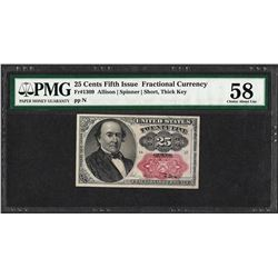 1874 25 Cent Fractional Currency Note Fr.1309 PMG Choice About New 58