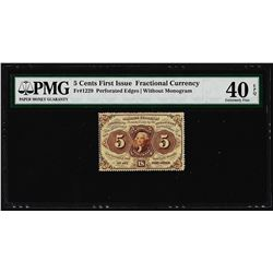 July 17, 1862 5 Cents First Issue Fractional Currency Note PMG Extremely Fine 40