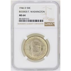 1946-D Booker T. Washington Memorial Half Dollar Coin NGC MS64
