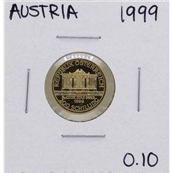 1999 Austria Philharmonic 200 Schilling 1/10 oz. Gold Coin