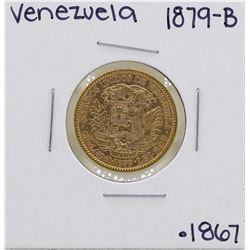 1879-B Venezuela 20 Bolivar Gold Coin