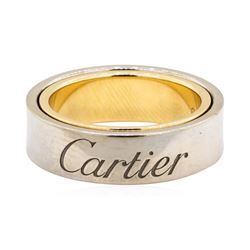 Cartier 18KT White and Yellow Gold Secret Love Ring