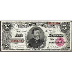 1891 $5 Treasury Note
