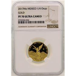 2017MO Mexico 1/4 Onza Gold Coin NGC PF70 Ultra Cameo