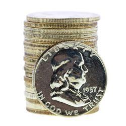Roll of (20) 1957 Proof Franklin Half Dollar Coins
