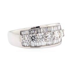 14KT White Gold 1.66 ctw Diamond Wedding Band
