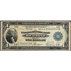 1914 $1 Federal Reserve Bank Richmond