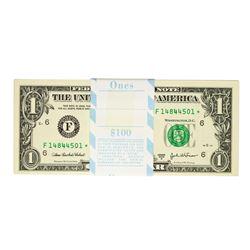 Pack of (100) Consecutive 2003A $1 Federal Reserve STAR Notes Atlanta