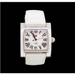 Michele Stainless Steel MW2 Diamond Wristwatch