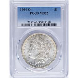 1904-O $1 Morgan Silver Dollar Coin PCGS MS62