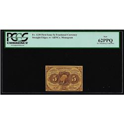 July 17, 1862 First Issue 5 Cent Fractional Currency Note PCGS New 62PPQ