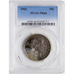 1902 Proof Barber Half Dollar Coin PCGS PR66 Amazing Toning