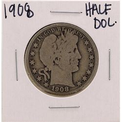 1908 Barber Liberty Head Half Dollar Coin