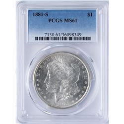 1881-S $1 Morgan Silver Dollar Coin PCGS MS61