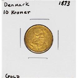 1873 Denmark 10 Kroner Gold Coin