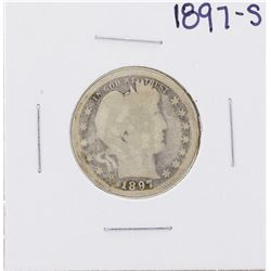 1897-S Barber Quarter Coin