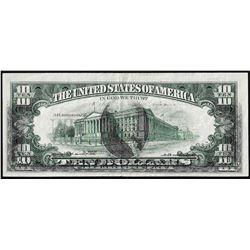 1969 $10 Federal Reserve Note Full Offset ERROR