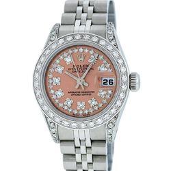 Rolex Ladies Stainless Steel Quickset Diamond Jubilee Datejust Watch w/ Rolex Bo