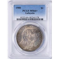 1900 $1 Lafayette Commemorative Silver Dollar Coin PCGS MS64+