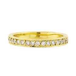 14K Yellow Gold 0.18 ctw Brilliant Round Diamond Ring