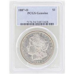 1887-O $1 Morgan Silver Dollar Coin PCGS Genuine