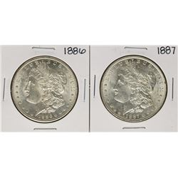 Lot of 1886-1887 $1 Morgan Silver Dollar Coins