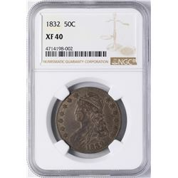 1832 Capped Bust Half Dollar Coin NGC XF40