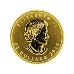2014 Canada $50 Maple Leaf 1 oz. Gold Coin