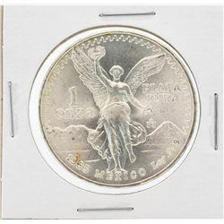 1985 Mexcian Libertad 1 Onza Silver Coin