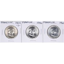 Lot of (3) Franklin Half Dollar Coins