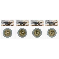 Lot of (4) 2007 Presidential Oath Dollar Coins ANACS MS66