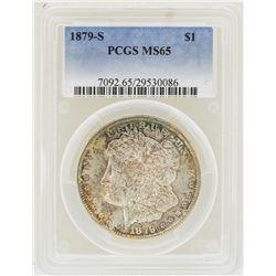 1879-S $1 Morgan Silver Dollar Coin PCGS MS65 Nice Toning