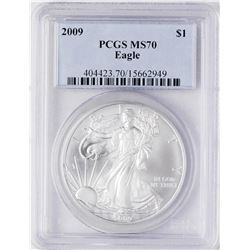 2009 $1 American Silver Eagle Coin PCGS MS70