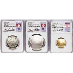 2014 Baseball Hall of Fame (3) Coin Set NGC MS70 Babe Ruth
