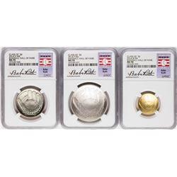 2014 Baseball Hall of Fame (3) Coin Set NGC MS70 Babe Ruth