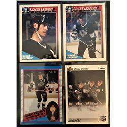 Wayne Gretzky 4 Card Lot 1989-90 Card #320