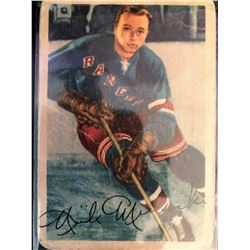 1953-54 Parkhurst Nick Mickoski Card #62 Poor Condition