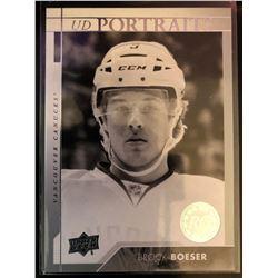 2017-18 Upper Deck Rookie Portraits Brock Boeser