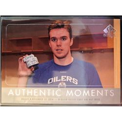 2016-17 SP Authentic Moments Connor Mcdavid Card #106