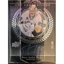 2016-17 UD Black Autograph Marc-Andre Fleury #CC-MF
