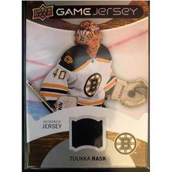 2012-13 Upper Deck Game Jersey Tuukka Rask #GJ-TR