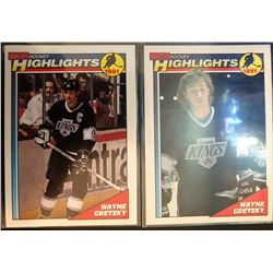 1991-92 O-Pee-Chee X 2 Wayne Gretzky Card #201, and