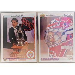 Patrick Roy Cards X 2 1990-91 Vezina Trophy Winner #207