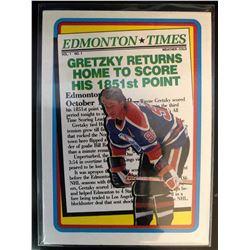 1990-91 Topps Wayne Gretzky Card #2 Returns Home