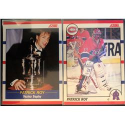 1990-91 Score X 2  Patrick Roy Card #10, And Card #364