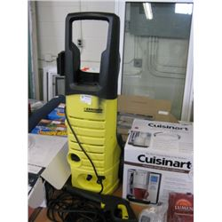 USED KARCHER ELECTRIC PRESSURE WASHER MISSING WHEEL